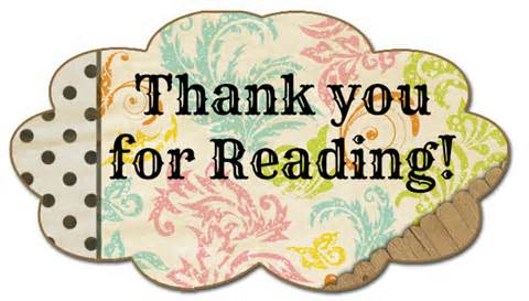 Image result for thank you for reading clipart